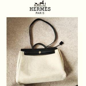 HERMES Herbag 2 in 1 / 31 cream-35 black